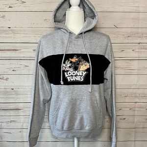 Looney Tunes Vintage Hoodie Gray Size Medium